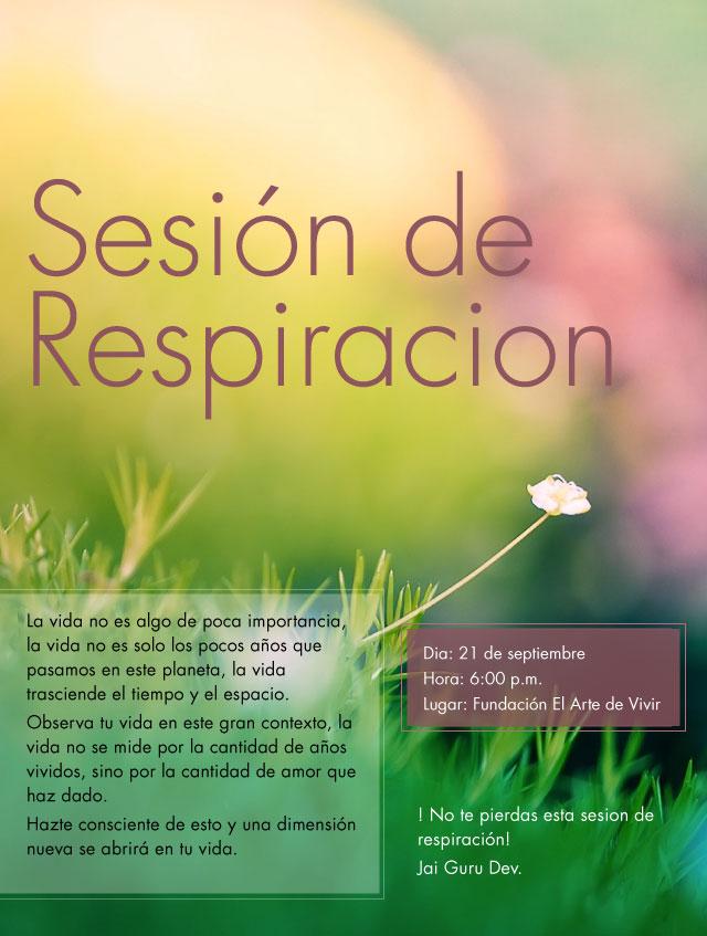 sesion de respiracion flyer