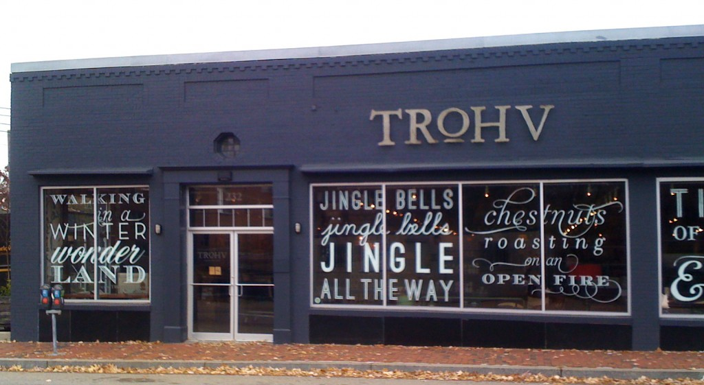 Trove holiday typography
