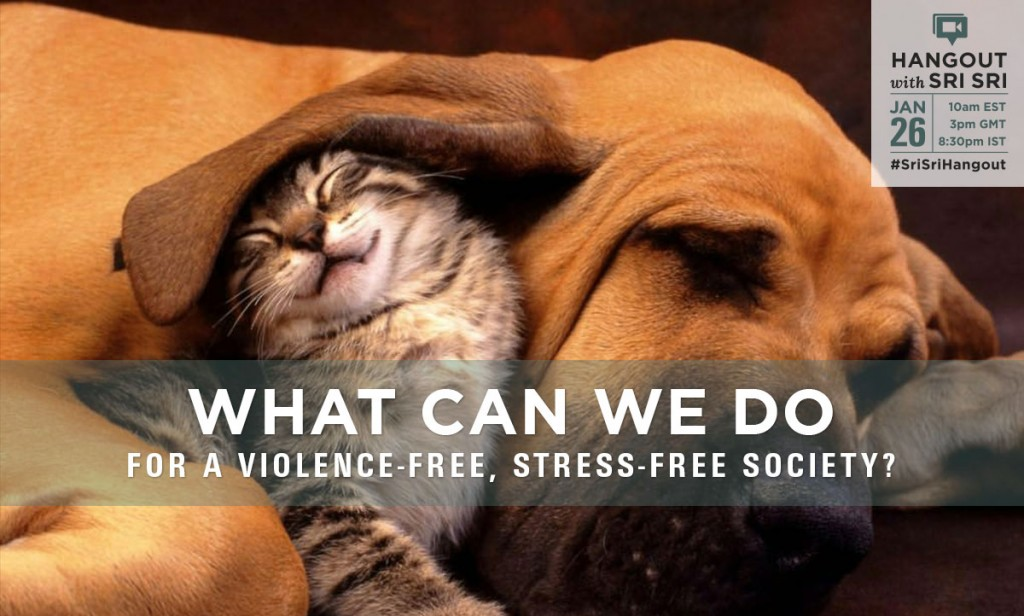 violence-free stress-free society campaign
