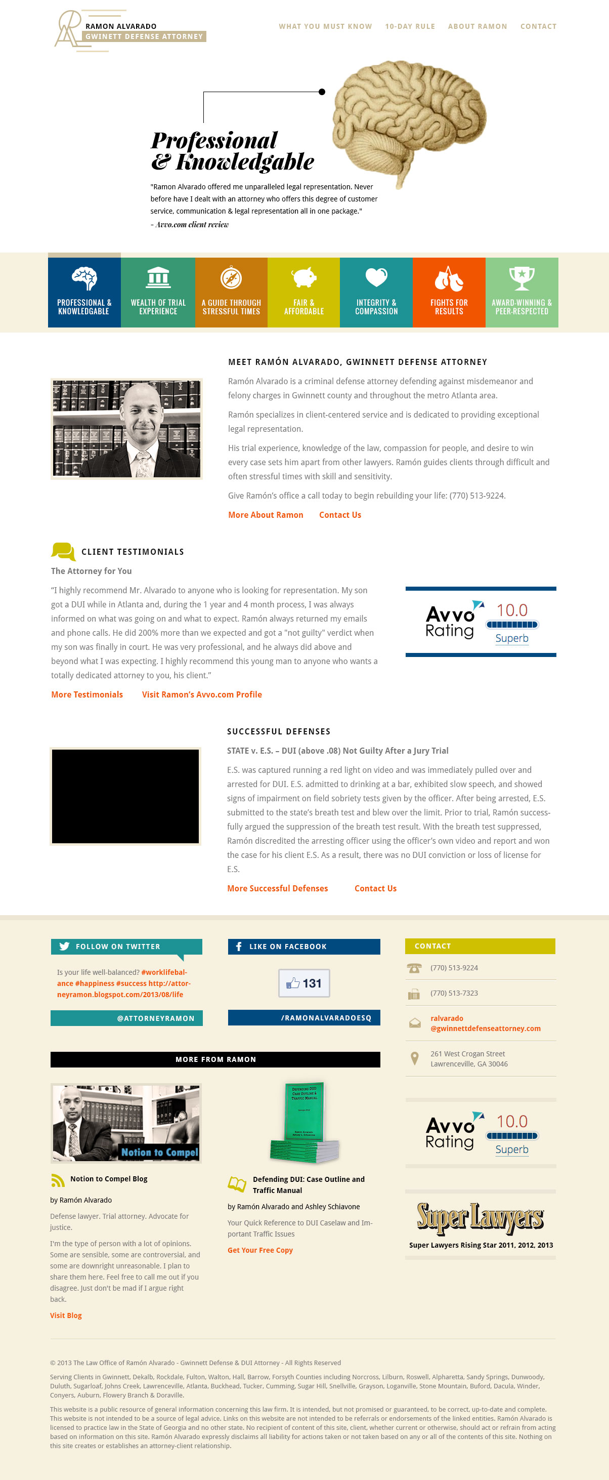 lawyer website homepage