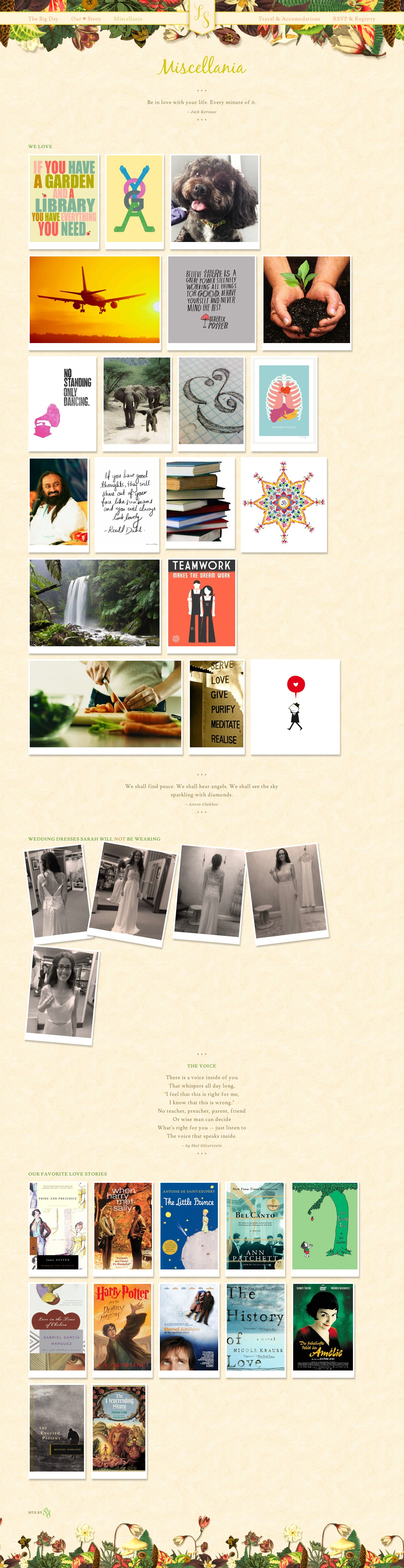 Wedding Website Misc Page