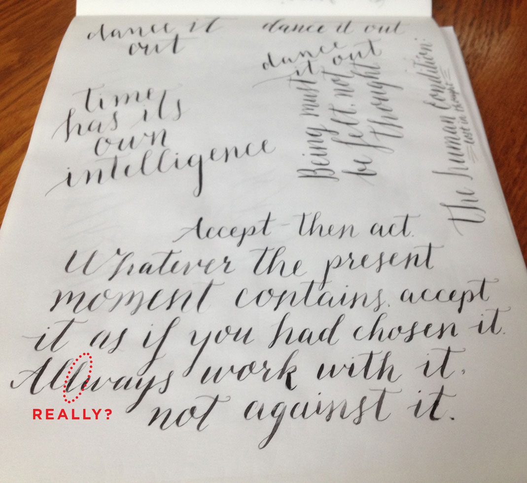 Pointed Pen Calligraphy Misspelling