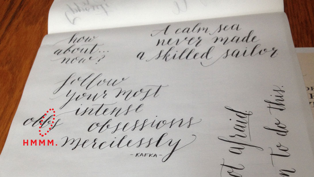 Pointed Pen Calligraphy Misspelling - Again