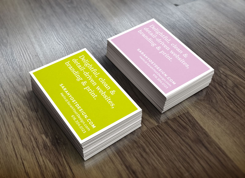 Moo business cards mock-up