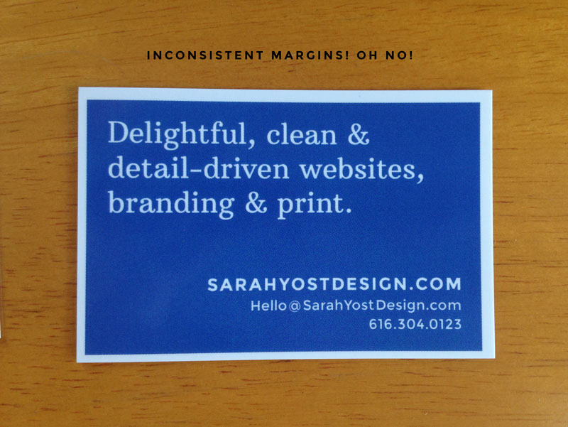 Moo Business card cropping